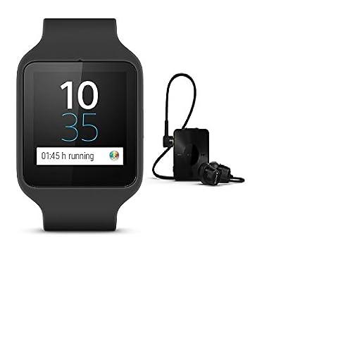 'Sony SmartWatch 3SWR501.645g noir Noir–Montres intelligents (Plaza, noir, noir, noir, USB)