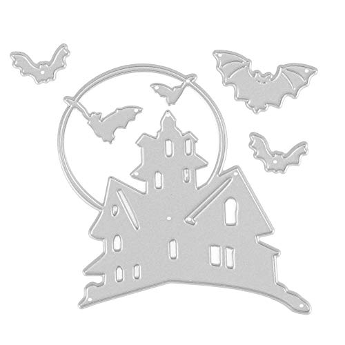 (vanpower 3 Stücke Halloween Metall Stanzformen Schablonen für Scrapbooking Präge Album DIY Papier Karte Handwerk, MS-469)