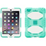 Griffin Green/White Survivor All-Terrain Case + Stand for iPad mini, mini 2 and mini 3 - Military-duty case with stand- Touch ID