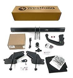 Abnehmbare Westfalia Anhängerkupplung für C-Klasse Kombi (ab BJ 09/2014) und C-Klasse Limousine (ab BJ 03/2014) im Set mit 13-poligem fahrzeugspezifischen Westfalia Elektrosatz