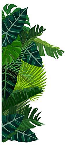 Wandtattoo Dschungel Blätter in grün Wildnis florale Dekoration -