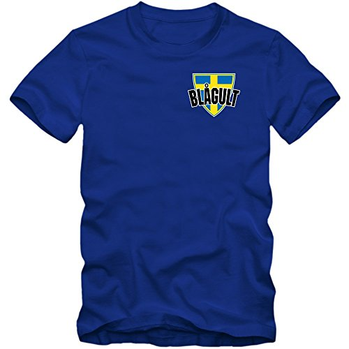 Schweden EM 2016 #5 T-Shirt   Fußball   Herren   Trikot   Blågult   Nationalmannschaft, Farbe:Blau (Royalblue L190);Größe:XL