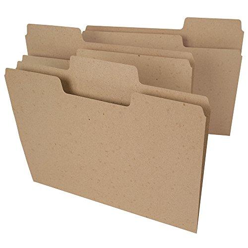 Smead Arbre gratuit Supertab File Folder, format Lettre, 1/3-Cut Tabs, Marron naturel 100 par boîte Letter marron