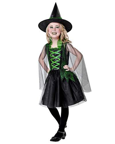 Wicked Cool Hexe Kostüm - Horror-Shop Wicked Witch Kinderkostüm mit Hexenhut