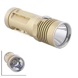 Ebest - 1000 Lumens Cree XML U2/T6 3 modes Petite torche LED Flashlight - Rook blackshadow, 3 x AA / 14500 batteries (non incluses)