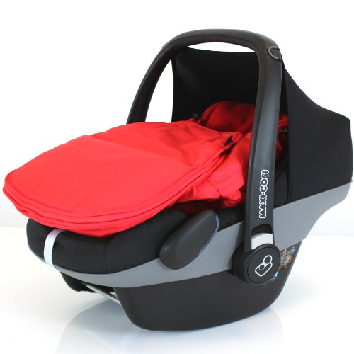 iSafe Baby Pram Travel System 3 in 1 - Red Car Seat Rain Covers & Footmuffs iSafe