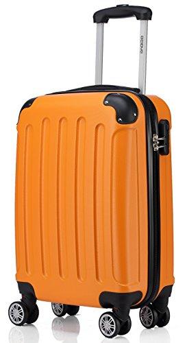 2045 Reisekoffer Koffer Trolley Hartschale XL-L-M in 12 Farben (Orangen, XL)