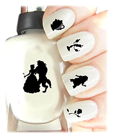 Beauty and the Beast Easy to use, High Quality Nail Art Decal Stickers For Every Occasion! Ideal Christmas Present / Gift - Great Stocking Filler Beauty and the