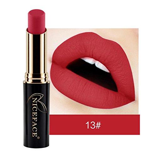 Tefamore Nouveau Lip Lingerie Matte Liquide Rouge à Lèvres Imperméable Maquillage à Lèvres Brillant 24 Teintes (13#)