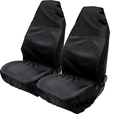 Hiveseen 2 Pack Universal Car Front Seat Covers Protectors, Size 75x55x55cm, Fits 99% of Vehicles Sport/Bucket Seats, Heavy Duty and Waterproof Nylon, Easily Wiped