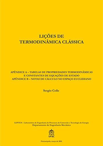 LIÇÕES DE TERMODINÂMICA CLÁSSICA: APÊNDICES (Portuguese Edition)
