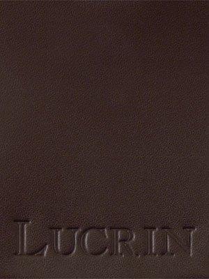 Lucrin - Etichetta per valigia rotonda (9 cm) - Grigio marrone - Pelle Liscia Marrone
