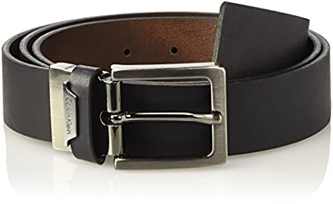 Calvin Klein Herren Gürtel Basic Reversible Adjustable Multicolore (Black/Whiskey 907), 115