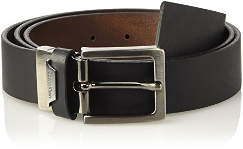 Calvin Klein Basic Reversible Adjustable, Cintura Uomo, Multicolore (Black/Whiskey 907), 105 (Taglia Produttore)