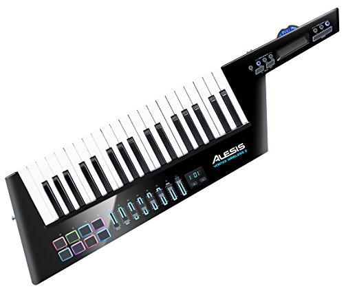 Alesis Vortex Wireless II – Kabelloser Hochleistungs USB / MIDI Keytar Controller inklusive Premium Software Paket