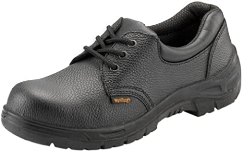WorkTough 201SM05 Size-5 Safety Shoe - Black