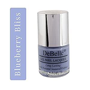 DeBelle Nail Lacquer Blueberry Bliss - 8 ml (Pastel Purple Nail Polish)