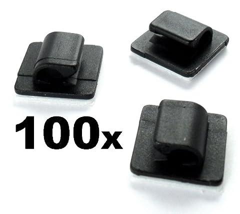 100x Passe-Câble Support Auto-Adhésif Pour Ensemble de Câbles X 100 - Lot de 100 - Lot de 100 - LIVRAISON