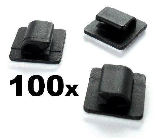 100x Passe-Câble Support Auto-Adhésif Pour Ensemble de Câbles X 100 - Lot de 100 - Lot de 100 - LIVRAISON GRATUITE!