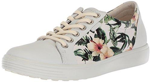 Ecco Damen Soft 7 Sneaker, Mehrfarbig (White/Flower Print), 36 EU