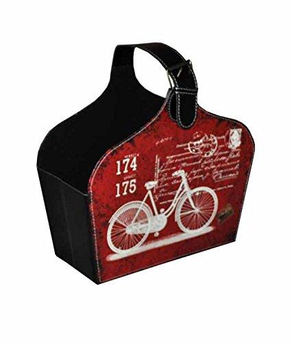 Red vintage Bicycle cartolina stampa ecopelle grande