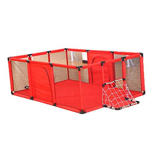 Bambini Recinto- Red Baby Playyard Infant Box Design Cestello, Sicurezza per La Casa per Bambini Protettivo Fence Assemblato Indoor Playground (Dimensioni : 180x120cm)