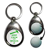 Keep Calm and Whack It - Golf Ball Marker Key Ring