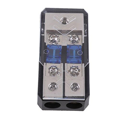 in-Line Sicherungshalter Verteilerblock Stereo Audio Sicherungsblock mit 60A Sicherung ()