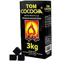 TOM Carbón De Coco Cococha Amarillo 3kg para cachimba y BBQ