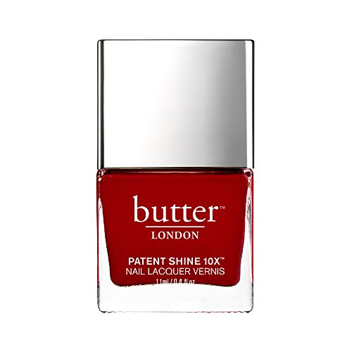 butter LONDON Patent Shine 10X Nail Lacquer Her Majestys Red Shiny Patent