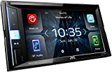 JVC KW-M450BT Digital-Media-2-Din-Autoradio mit 15,7 cm Touchscreen (2X USB, Bluetooth Freisprecheinrichtung, Android-/Apple, Spotify Control, WebLink, Waze App Link) Schwarz
