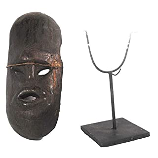 Terrapin Trading Traditional Atoni Animist Tribal Protective Paddle Mask Frm West Timor W Stand 5