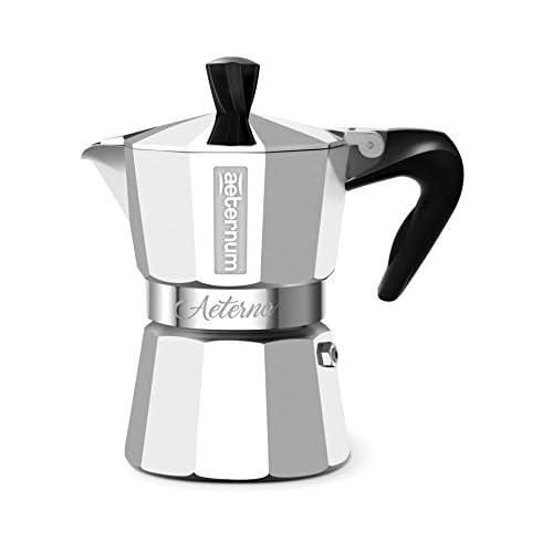 Bialetti Aeterna Espresso Maker for 1 Cup, Aluminium, Silver, 30 x 20 x 15 cm