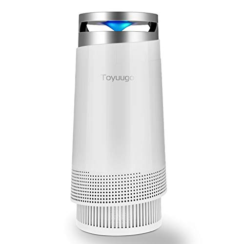 Luftreiniger, Toyuugo Anion air Purifier HEPA-Filter(99,97{5e0ad6a57a65cd18be108dd2c7045c79c63a46549b4d56ed646016d7b4a6ae3d} Filterleistung) mit Aktivkohlefilter mit LED Nacht Light für Allergiker und Raucher