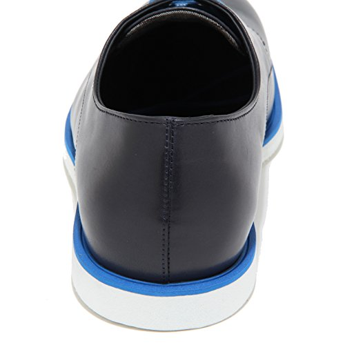 0291N scarpa classica HOGAN DERBY sneaker uomo shoes men blu blu denim