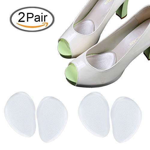 Gel Metatarsal Pads Ball of Cuscini del Piede Inserto di scarpa autoadesivi del piede anteriore, alleviare il dolore del piede per i pattini dell'alto tallone (2 paia)