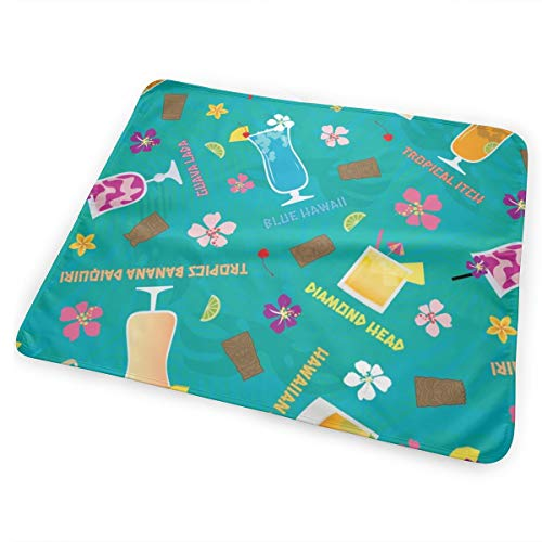 Hilton Hawaiian Village (Hilton Hawaiian Village Tropical Mixed Drinks Toss Washable Incontinence Pad Baby Changing Pad Pet Mat Large Size 25.5 x 31.5 inch (65cm*80cm))
