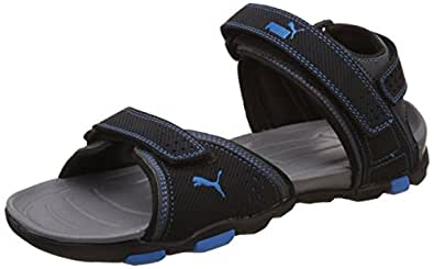 Puma Men's Helium IDP Black and Blue Aster Athletic and Outdoor Sandals - 6 UK/India (39 EU) (36451601)