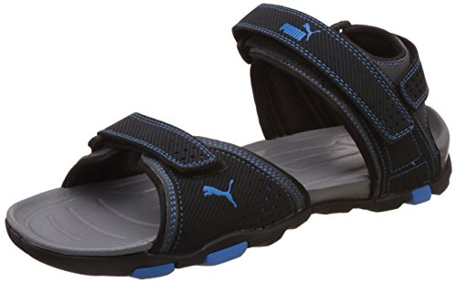 Puma Men's Helium IDP Black and Blue Aster Athletic & Outdoor Sandals - 10 UK/India (44.5 EU)