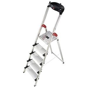 Hailo 8815-001 – Escalera plegable de aluminio (5 escalones)