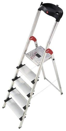 Hailo 8815-001 - Escalera plegable de aluminio (5 escalones)