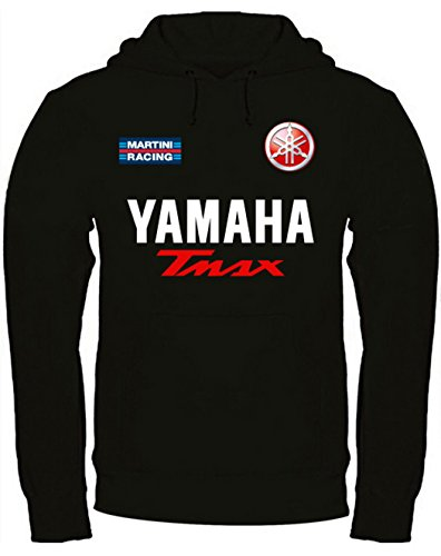 felpa-con-cappuccio-yamaha-tmax-personalizzata-nera-xl