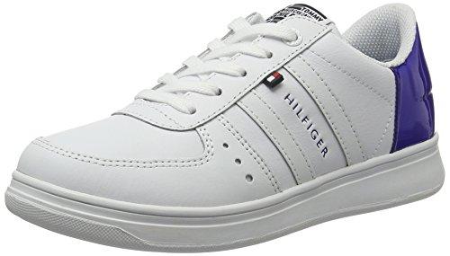 Tommy Hilfiger Z3285ero Jr 7a, Sneakers Basses Garçon Blanc (White-surf The Web 913)