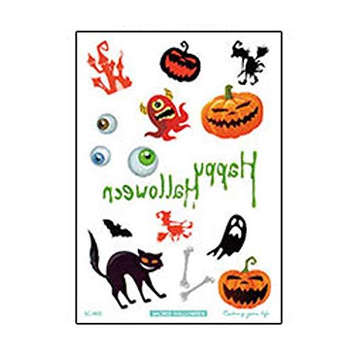 Halloween Party Set Halloween niedliche Kürbis Geist Tattoo Aufkleber Sc805 Modelle 1 Packung für Festival Cosplay Halloween Kostüm
