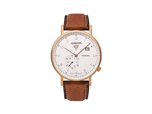 Junkers Men's Quartz Watch with Black Dial Analogue Display Quartz Leather 67324