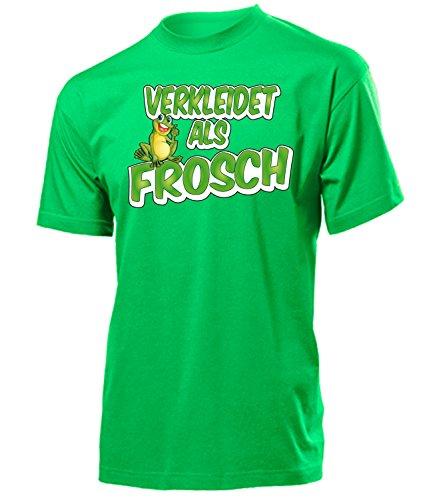 Frosch 2747 Karneval Fasching Tier Kostüm Motto Party Tier Herren T-Shirt Paar Gruppen Outfit Klamotten Oberteil Faschings Karnevals Grün XL - Safari-grün-erwachsenen-shirt