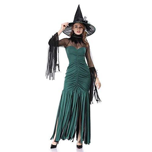 Fashion-Cos1 Horror Sexy Halloween Kostüme Für Frauen Hexe Kostüm Frau Vampire Plus Size Maskerade Kleider Cosplay Erwachsene (Size : XL) (Plus Hexe Size Kostüm)