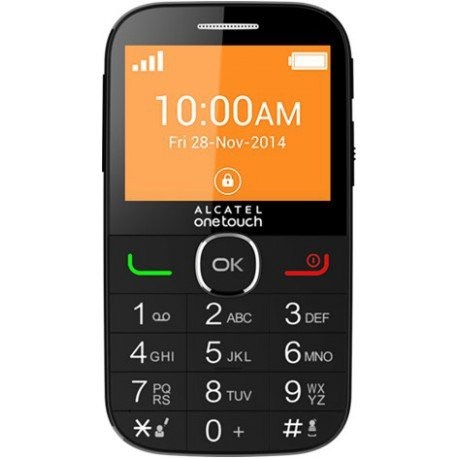 Alcatel 20.04C Smartphone débloqué 3G (Ecran : 2,4 pouces - 4 Mo) Noir