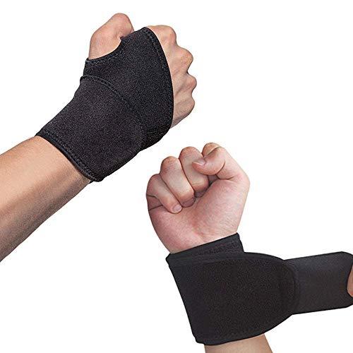 (2er-Set) Verstellbare Handgelenkstütze mit Klettverschluss, Daumenbandage - Sport Handgelenkschoner für Fitness, Krafttraining
