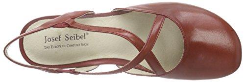Josef Seibel - Fiona 13, Scarpe col tacco con cinturino a T Donna Rosso (Rot (rubin))